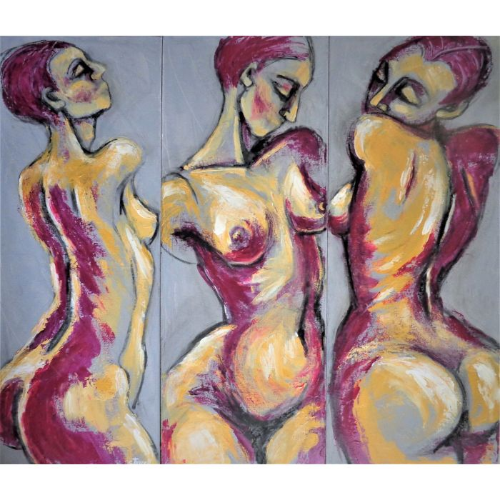 Triptych - Three Pink Graces