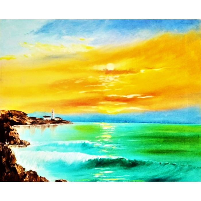 """Golden sunset over the sea"""