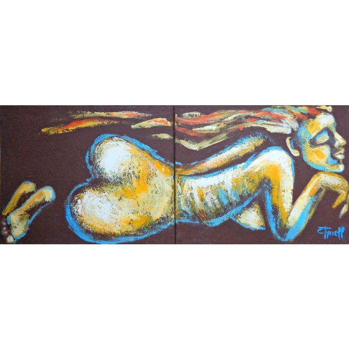 Relaxing Nude Figure (Diptych)
