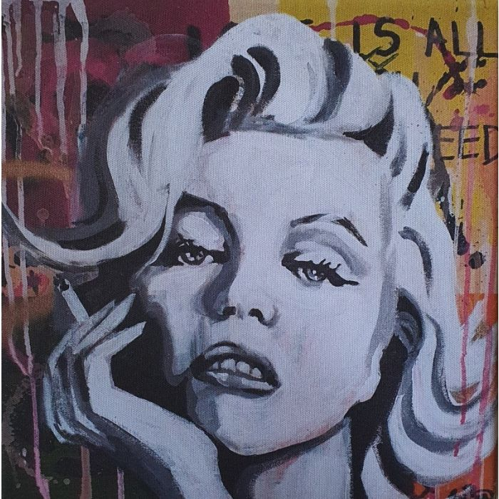 Maralyn Monroe print on canvas