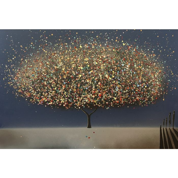 RESERVED COMMISSION - The wishing tree Midnight XL