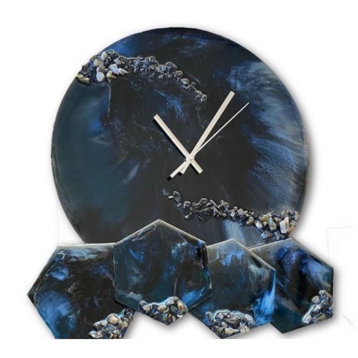 Astral travel clock and coaster set