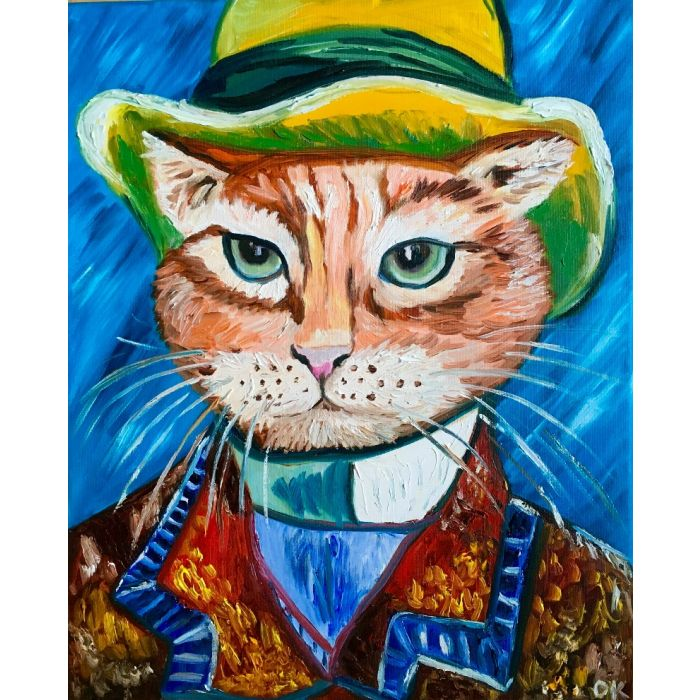 Serious Cat La Vincent Van Gogh