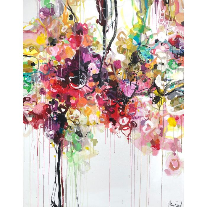 The beginning is always today - Oversized abstract paintings XXL art
