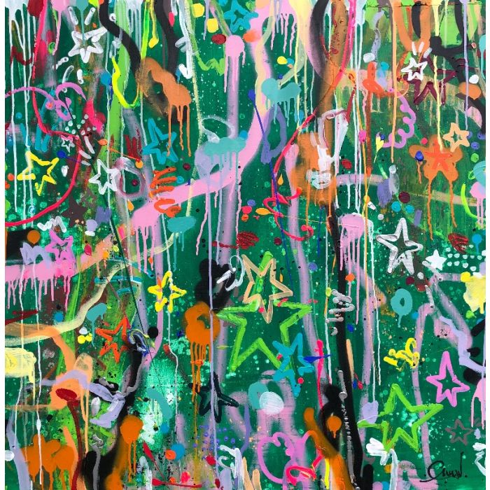 Little piece of joy - Large abstract painting
