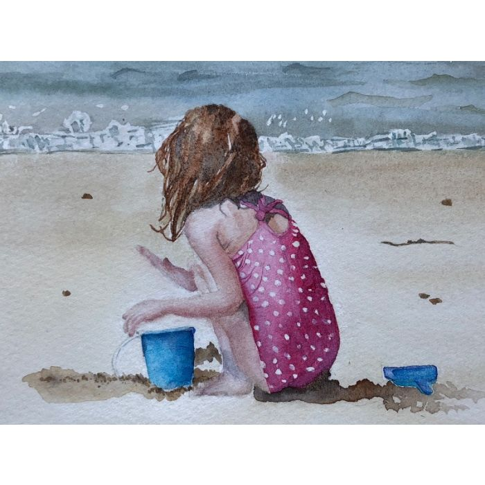 Young Girl At The Seaside