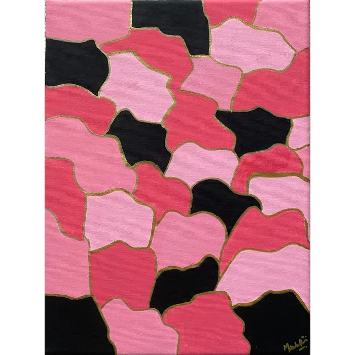 Pink and black abstract art