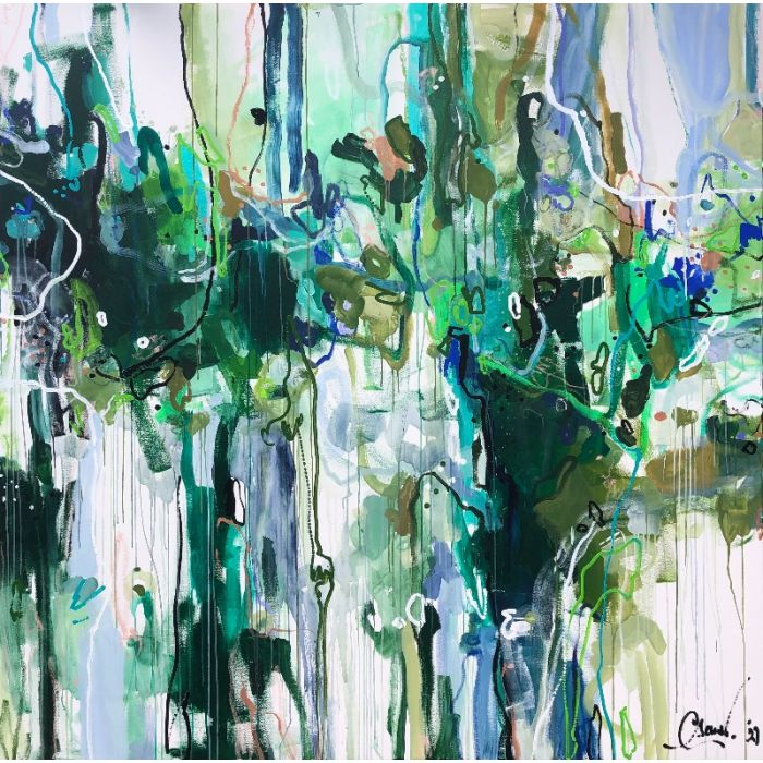 The Island - Oversized modern abstract painting XXL