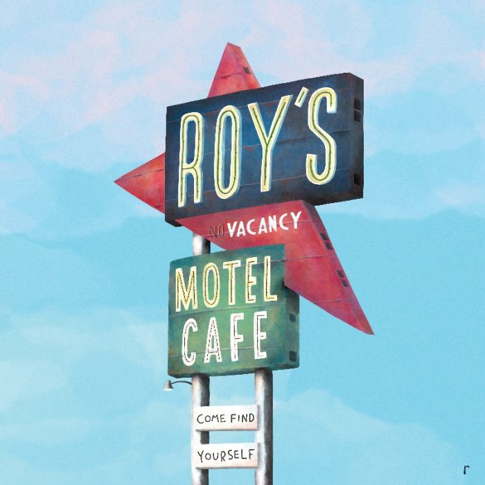 Roy's Motel Cafe sign - Route 66