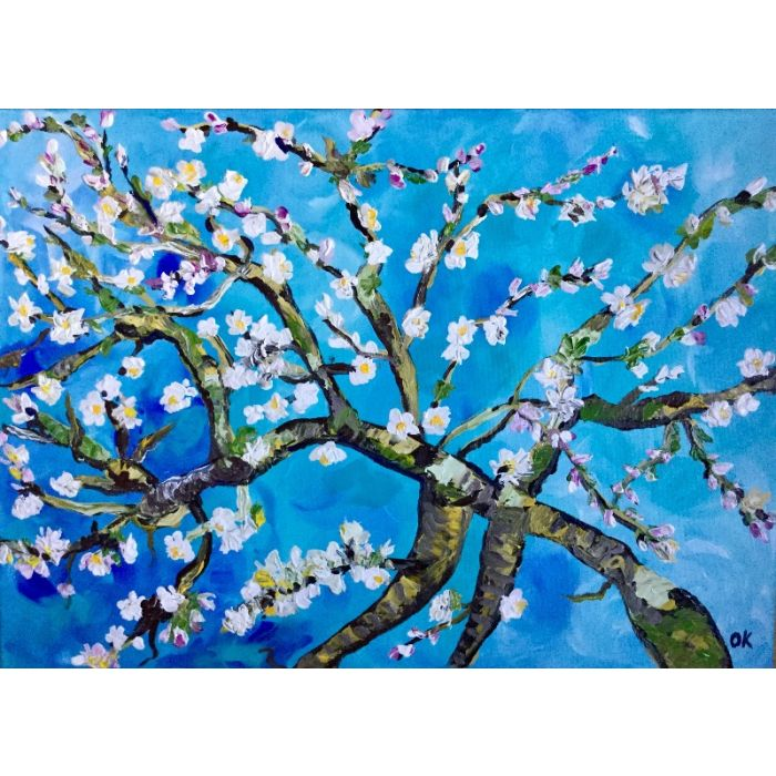 Almond blossom inspired by Vincent Van Gogh