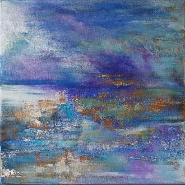 Abstract Silver Seascape