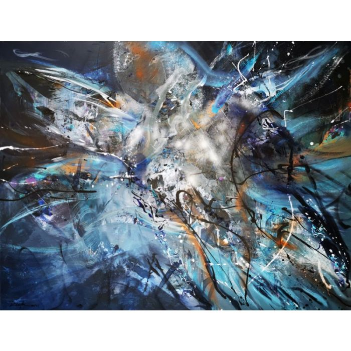 Gigantic XXL painting large scale masterpiece dreams childhood game light and vibrations by master Klosk