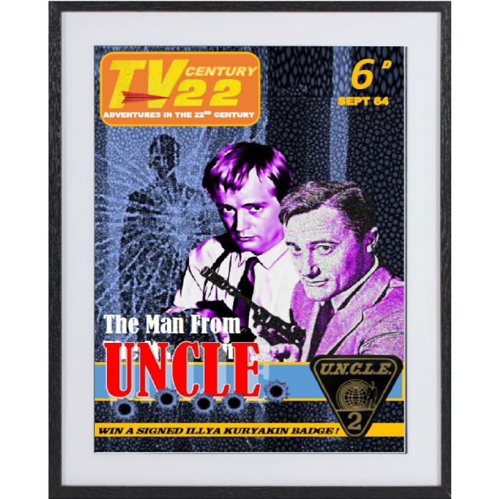 Man From Uncle: large framed limited edition print