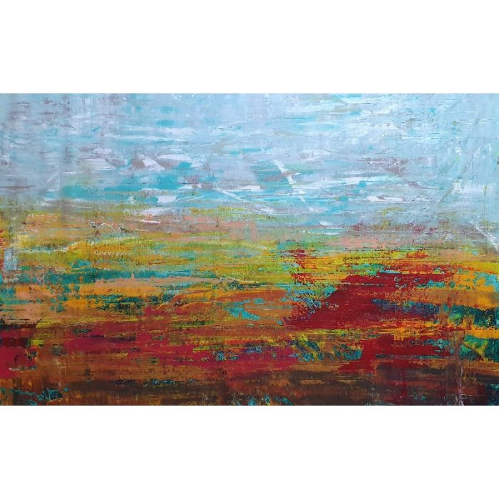 August evenings - XXL abstract landscape