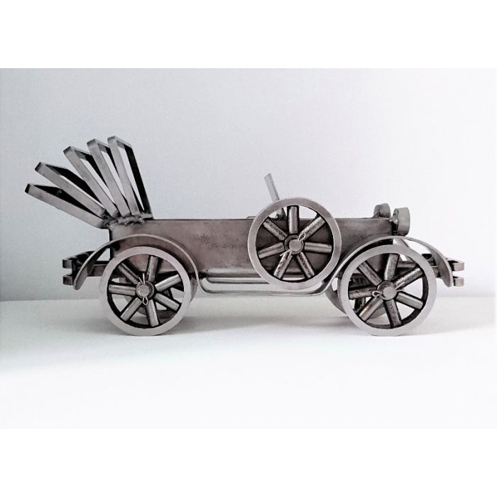 Automobile III - Vintage Cabriolet - from the Vehicles series. Functional sculpture by Ewa Duraszynska.