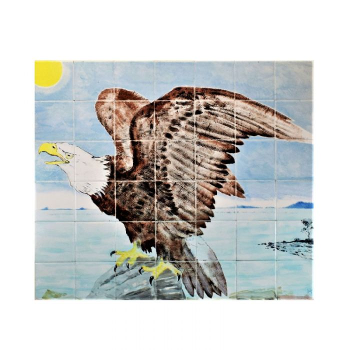 Eagle Ceramic Tile Mural Hand painted