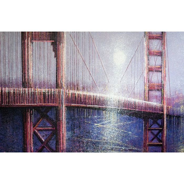 San Francisco - The Golden Gate Bridge Under Moonlight