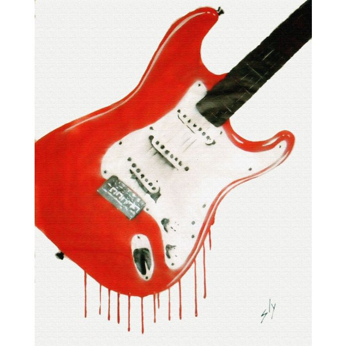 Bleedin' Guitar (on chunky canvas)