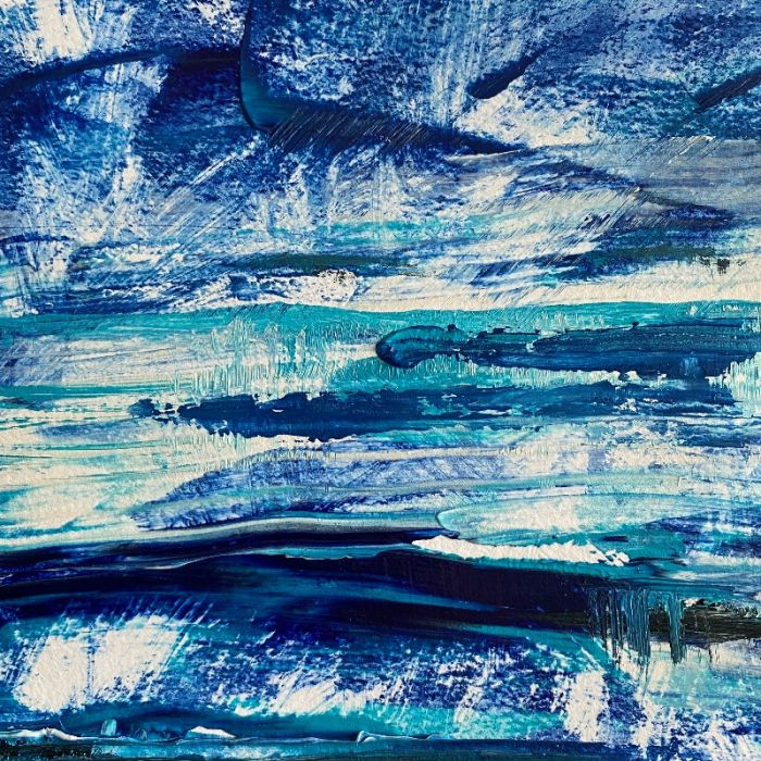 Blue Landscape Abstract