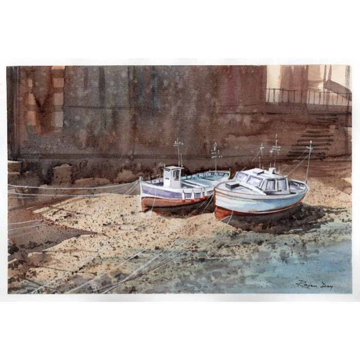 Boats at Staithes Beck_01