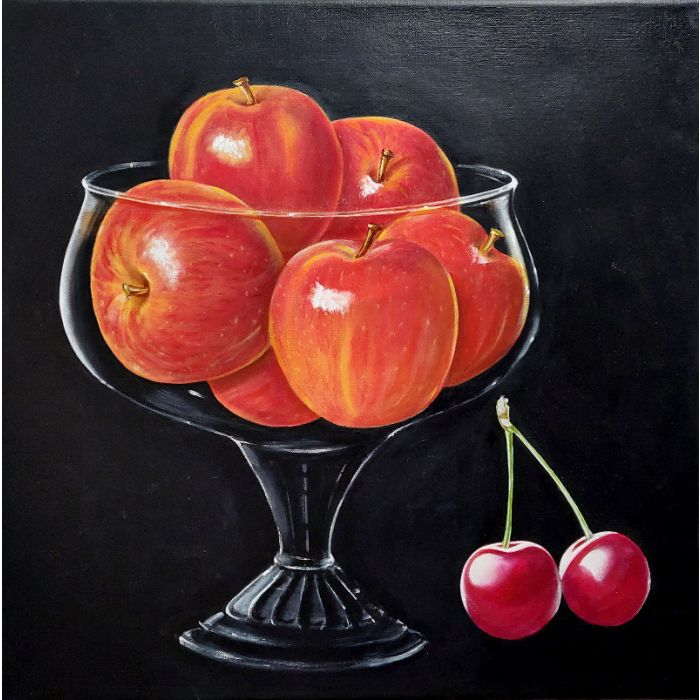 Bowl of Apples with Cherries