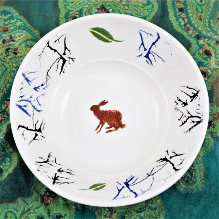 The Winter Hare Hand Glazed Ceramic Bowl