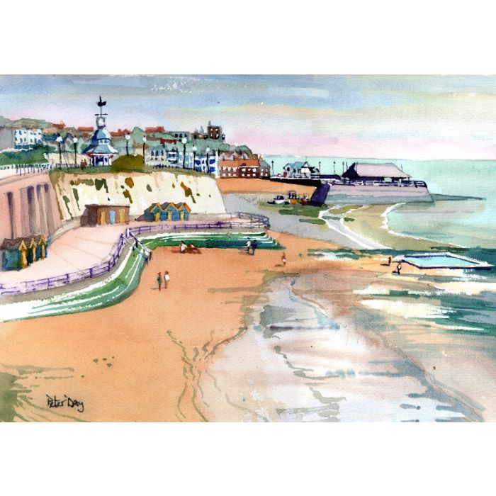 Broadstairs, View Across the Bays, Sea, Beach, Jetty, Boats, Bleak House