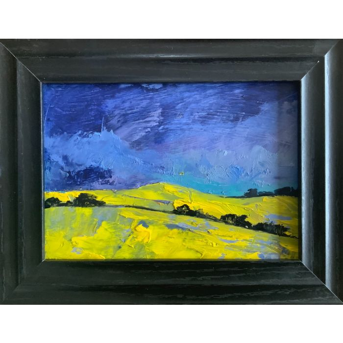 The Winds of Spring - a Spring storm ( framed original painting )