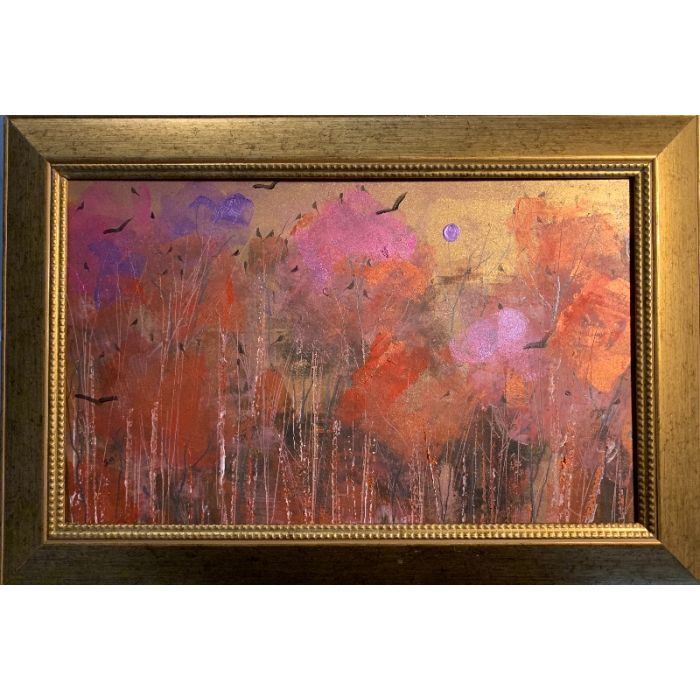 The blush of dawn across The Wildwood - framed original painting