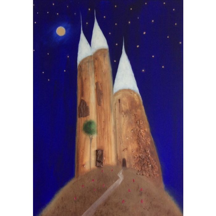 The Three Towers Of Aegean At Midnight