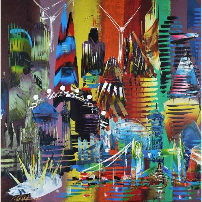 City of London Abstract Painting 849