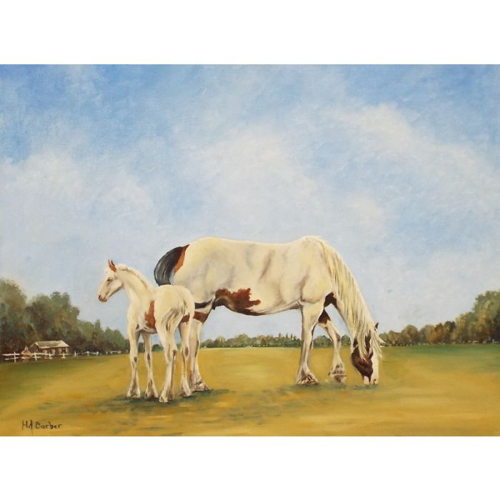 Cobb Mare and Foal 2 (Horse)