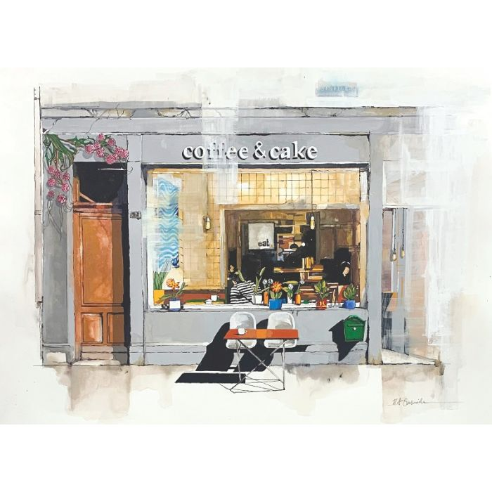 Coffee and Cake Cafe Limited Edition Print