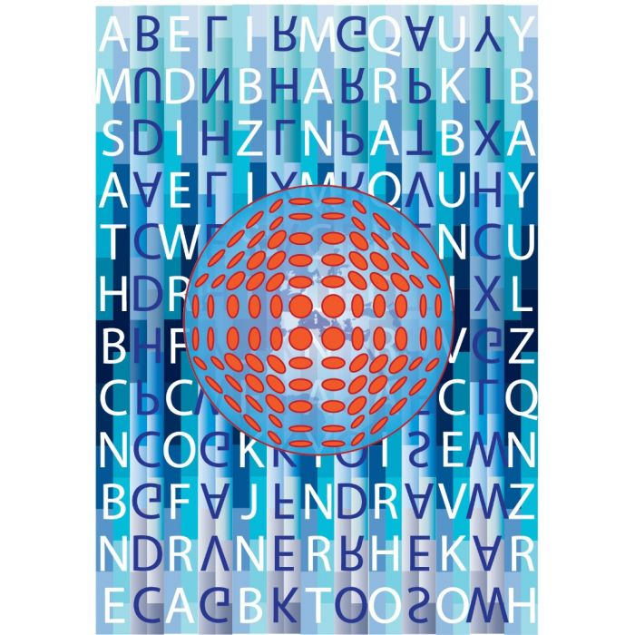 Covid over Globe ft A-Z Airport Codes - A3 Print 2020