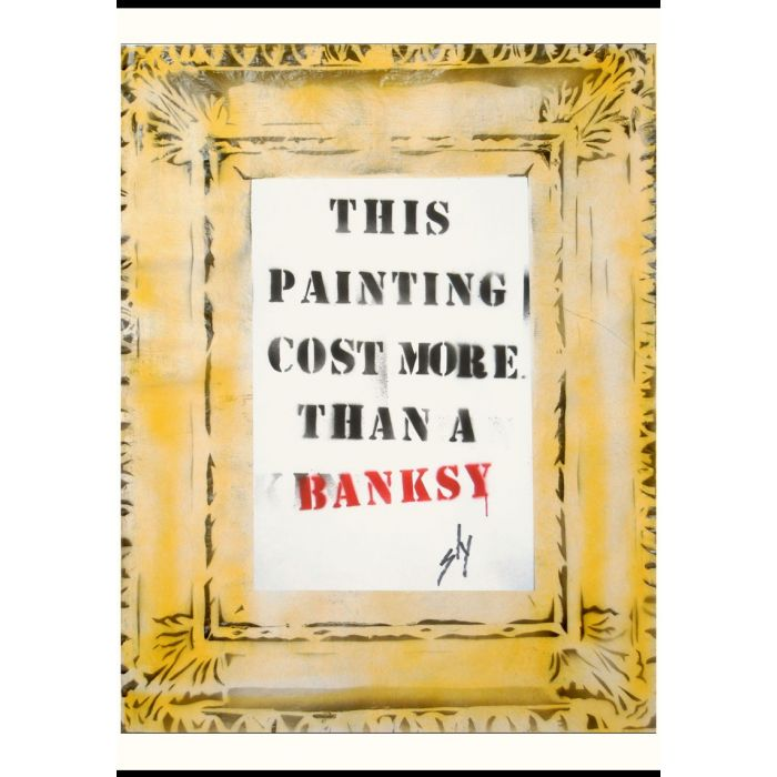 Cost More Than a Banksy (on plain paper)