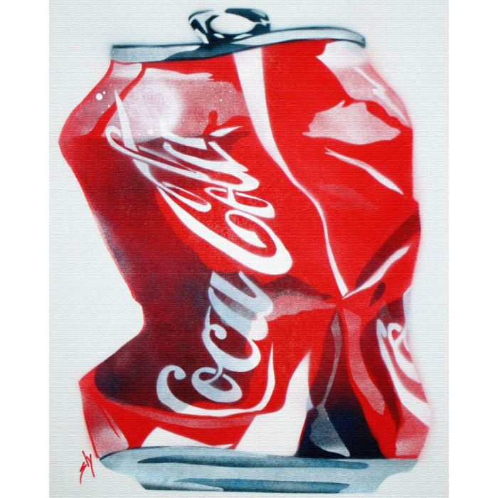 Crushed Coke (on canvas).