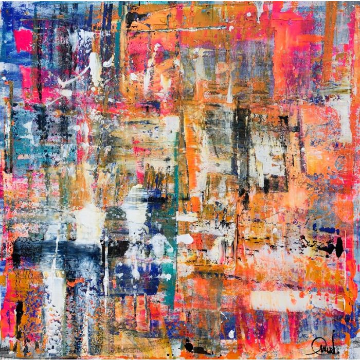 Living on the edge - XXL abstract painting
