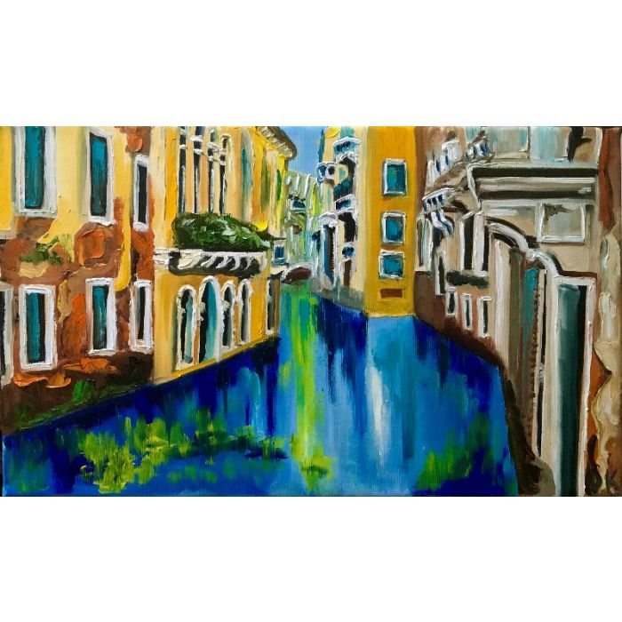 Venice in summer, canals, water reflections