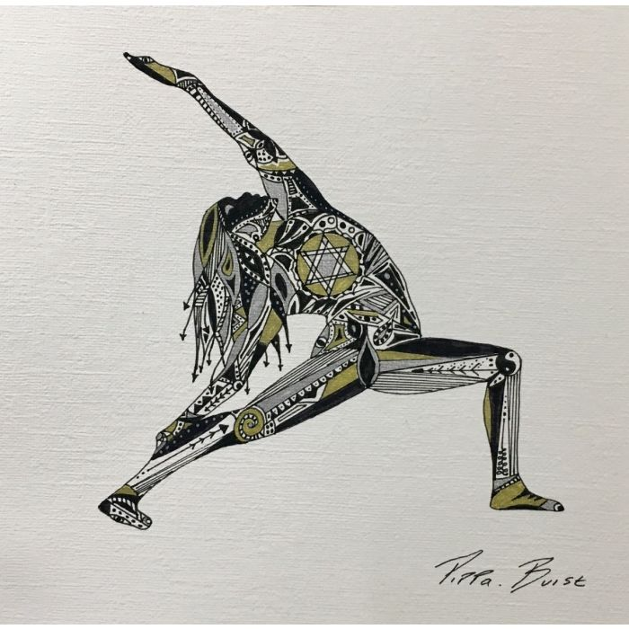 Yoga collection - Reverse Warrior - (Framed Square)