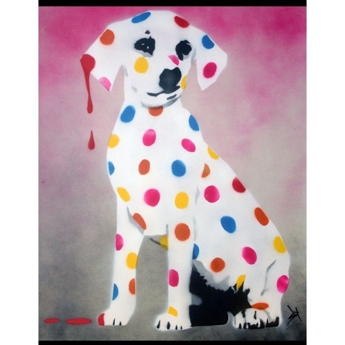 Damien's Dotty, Spotty, Puppy Dawg (Pink - On The Daily Telegraph)+ Free Poem.