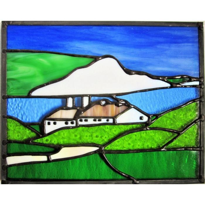 Stained Glass Seaford Head South Downs Contemporary Handmade Window Panel