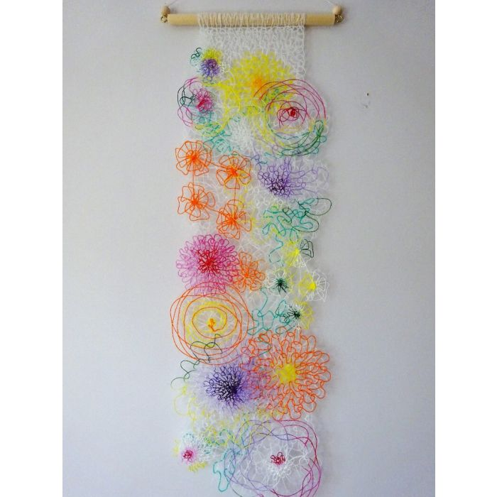 Abstract Lace Wall Hanging
