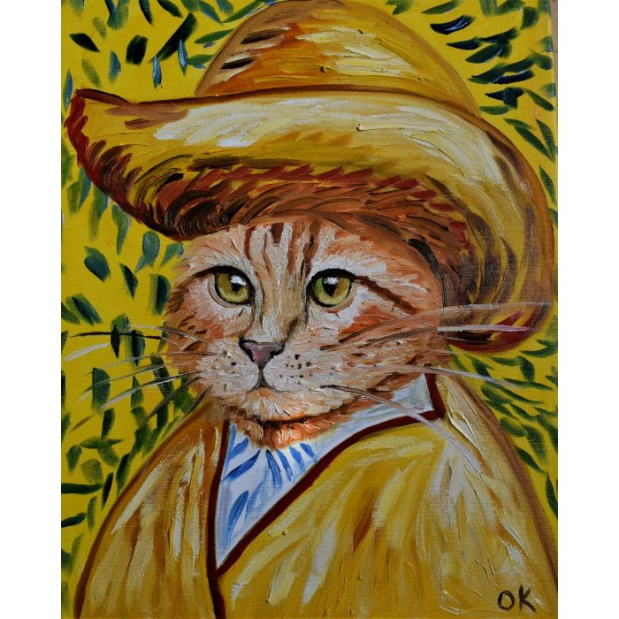 Handsome Cat La Vincent Van Gogh