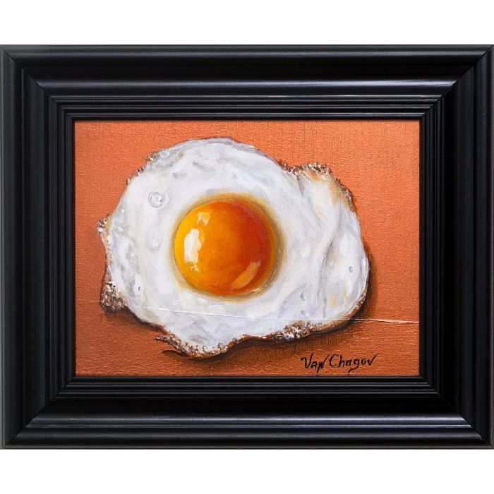 Fried Egg Oil Painting Original Still Life