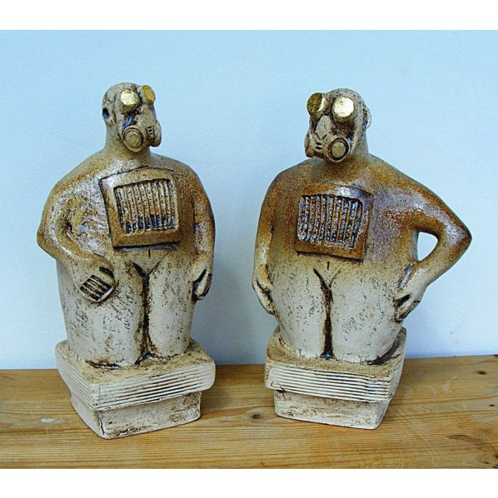 Pair of Ceramic Sculptures - The Composer and the Dancer