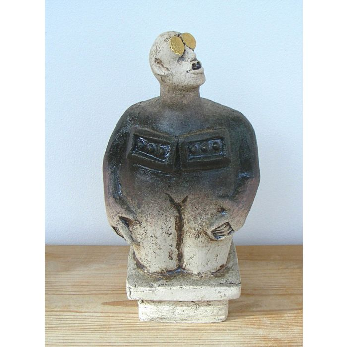 Stargazer Figure - Ceramic Sculpture