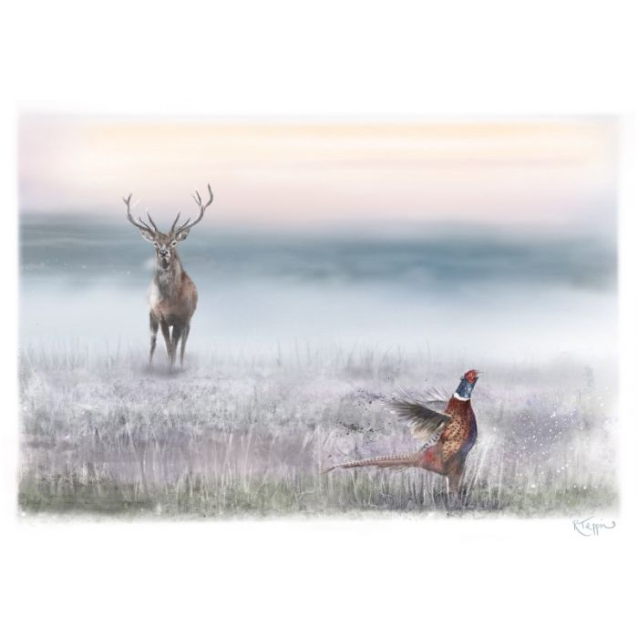 The stag and the pheasant.