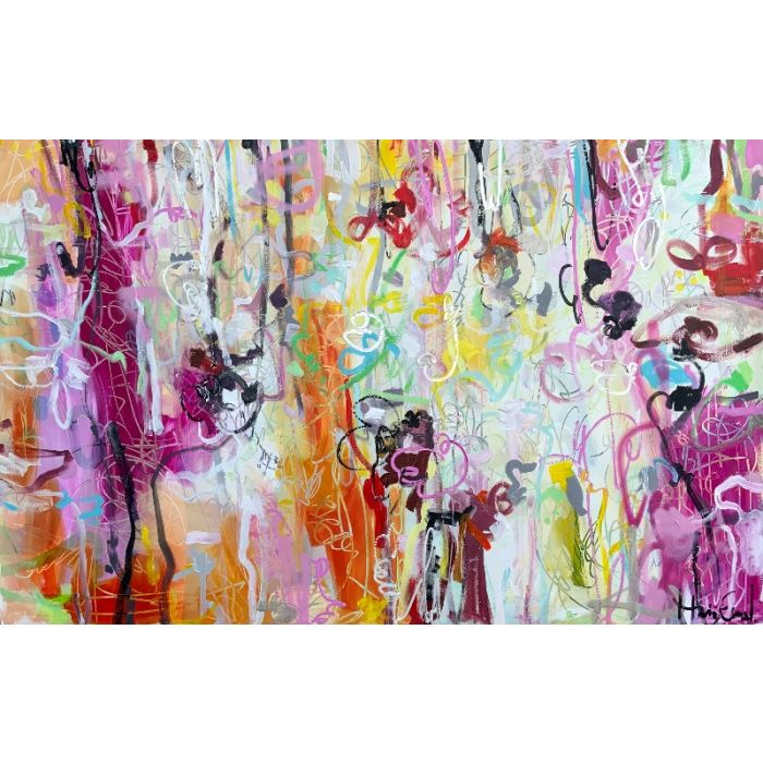 Once in a lifetime - Huge abstract painting XXL art