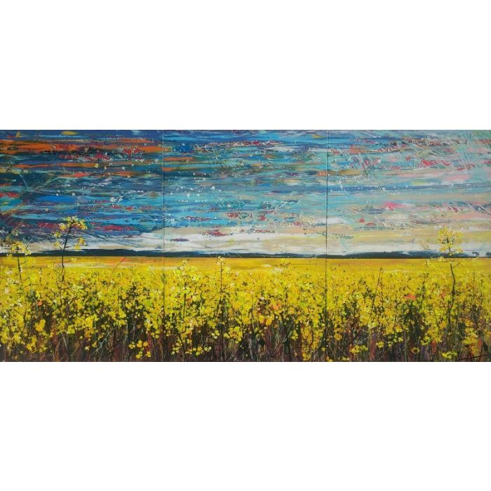 Endless Skies - Triptych, Large Artwork