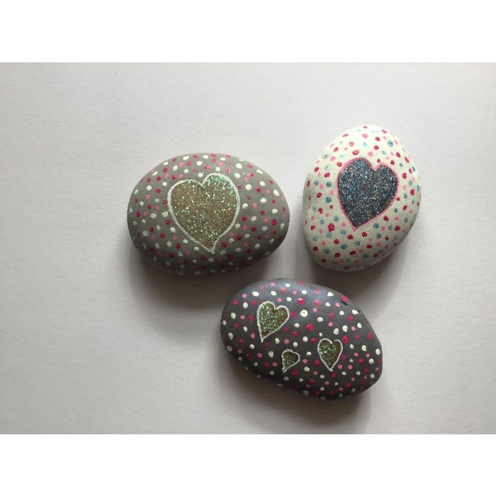 Pebble Art Trio 1